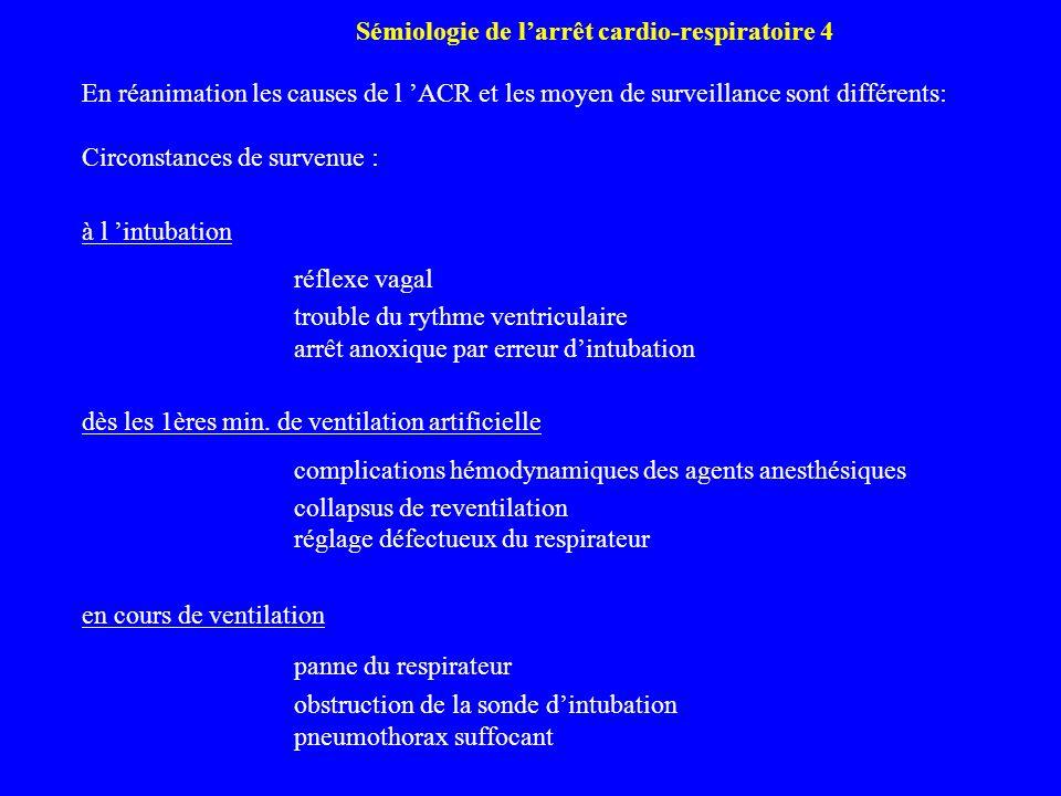Sémiologie de l'arrêt cardio-respiratoire 4