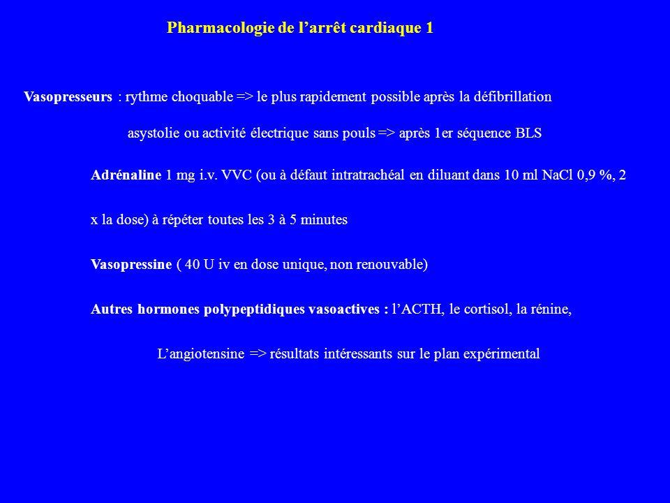 Pharmacologie de l'arrêt cardiaque 1