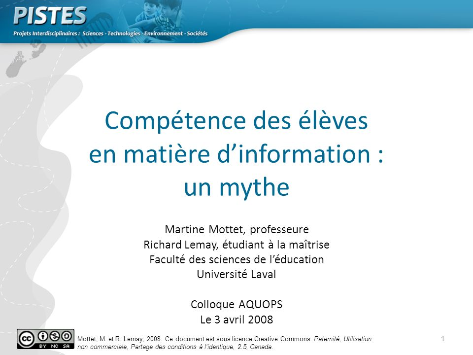 Compétence des élèves en matière d'information : un mythe