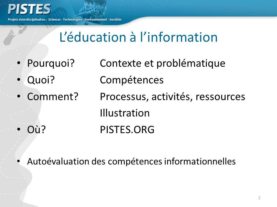 L'éducation à l'information