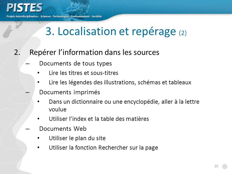 3. Localisation et repérage (2)