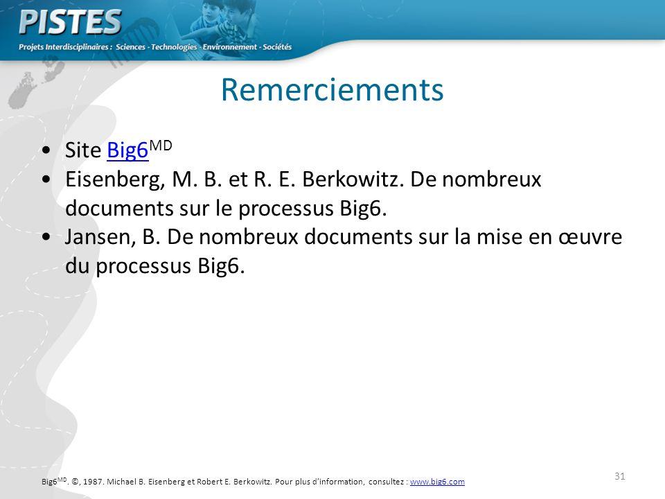 Remerciements Site Big6MD