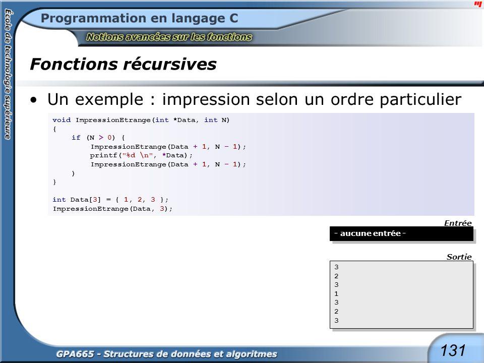Fonctions récursives suite de l'exemple à la page suivante ...