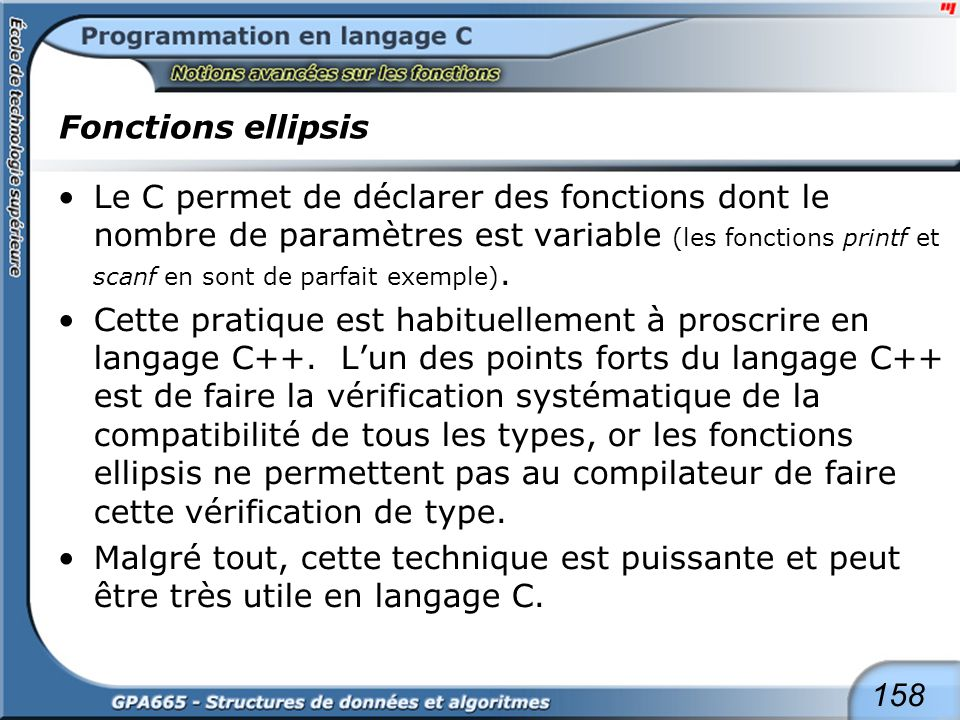 Fonctions ellipsis