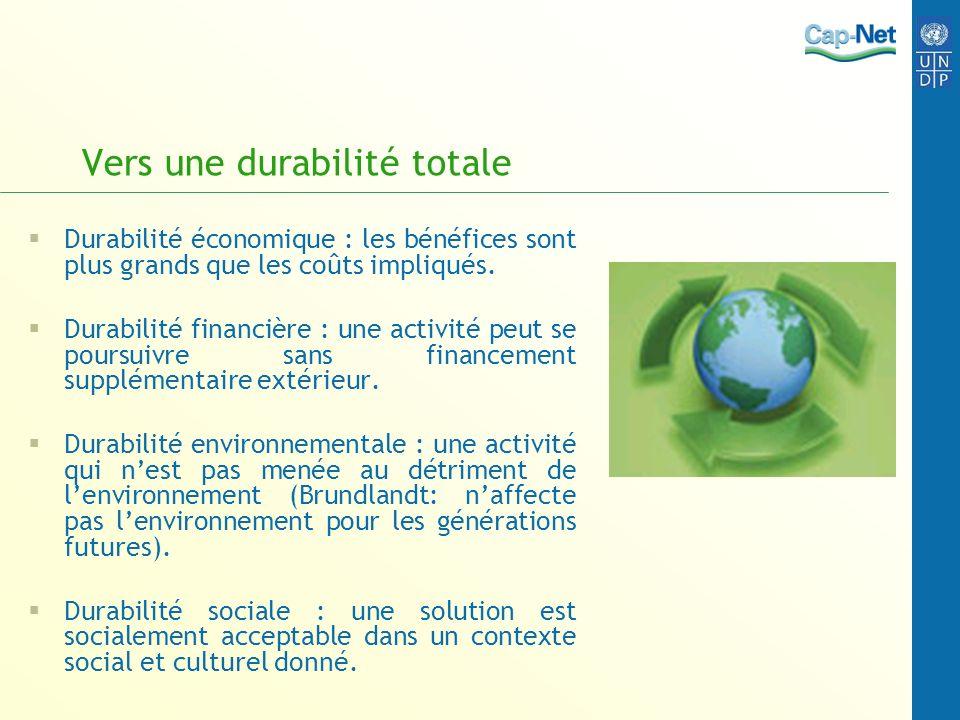 Vers une durabilité totale