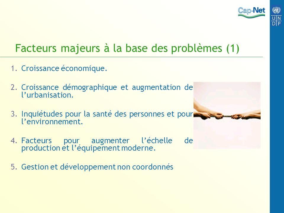 Facteurs majeurs à la base des problèmes (1)