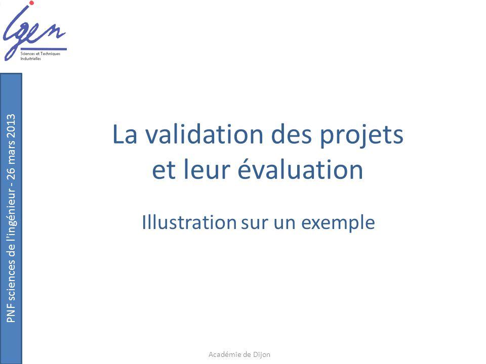 La validation des projets et leur évaluation