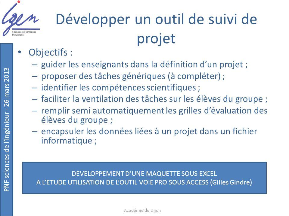 Développer un outil de suivi de projet