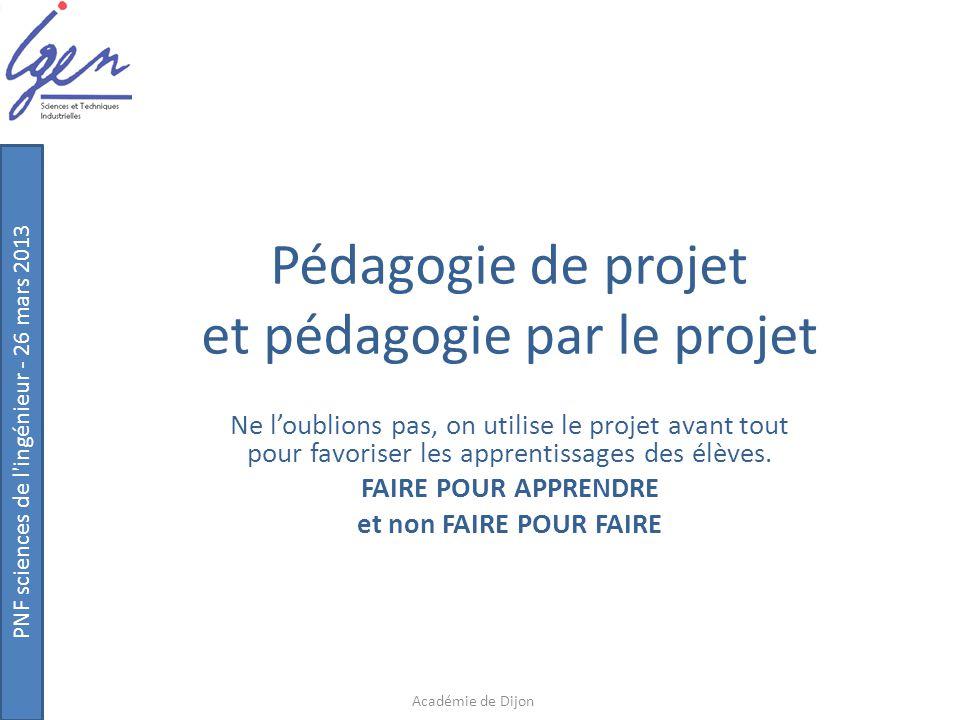 Pédagogie de projet et pédagogie par le projet