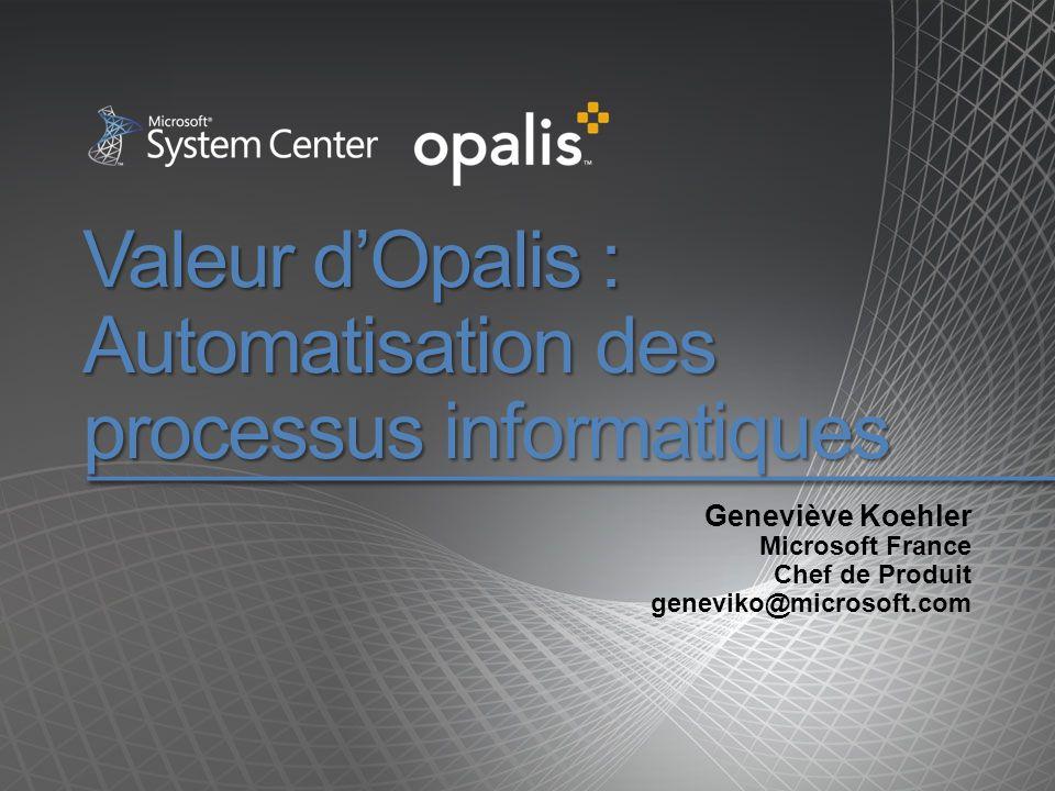 Valeur d'Opalis : Automatisation des processus informatiques