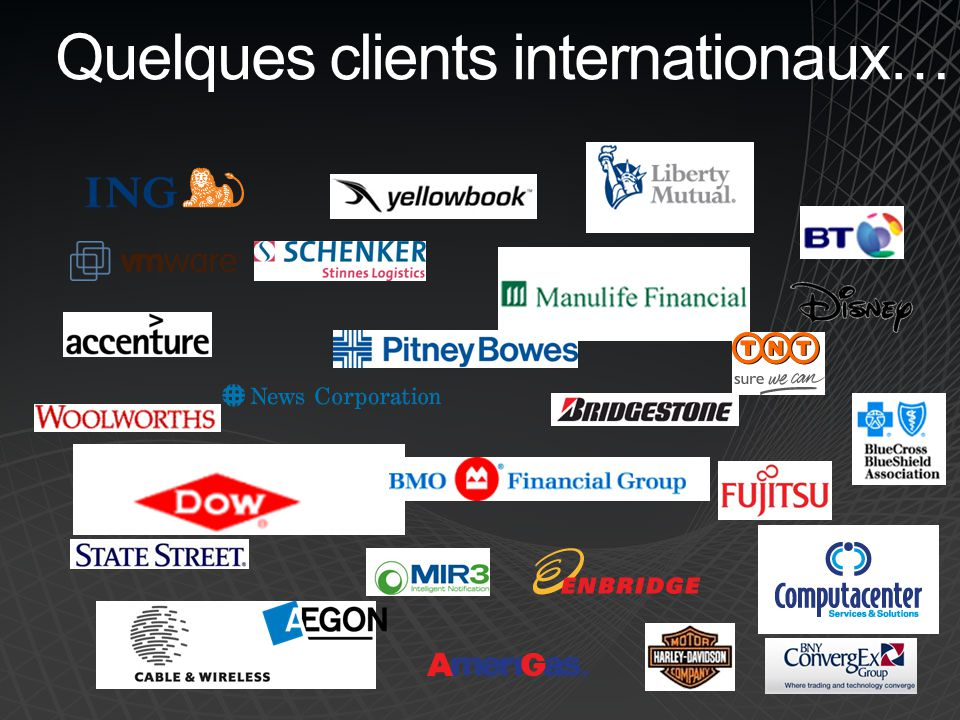 Quelques clients internationaux…