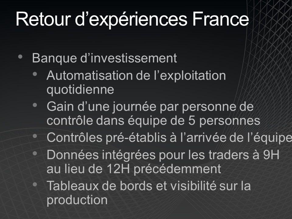Retour d'expériences France