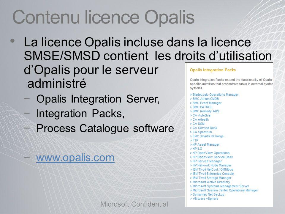 Contenu licence Opalis