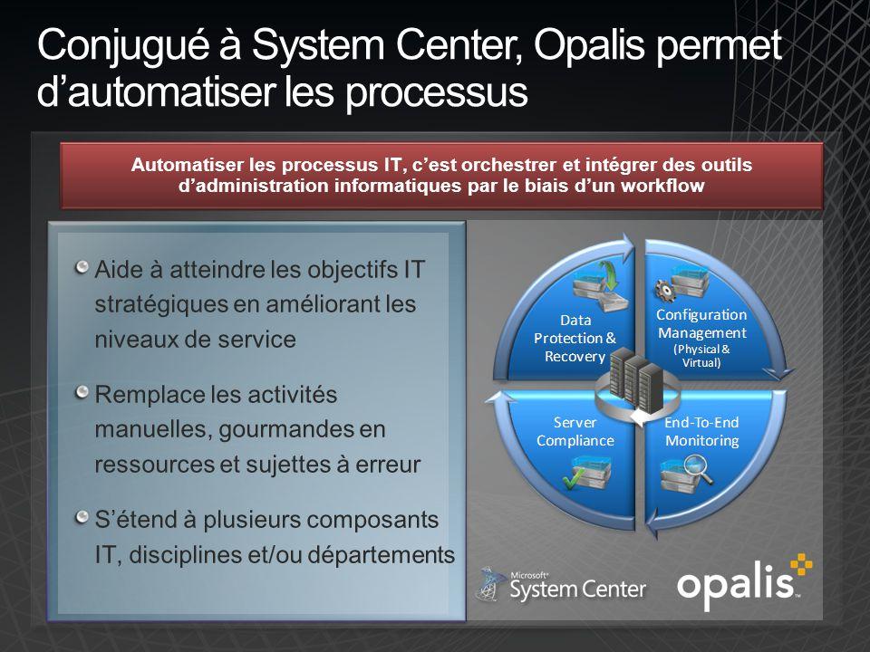 Conjugué à System Center, Opalis permet d'automatiser les processus