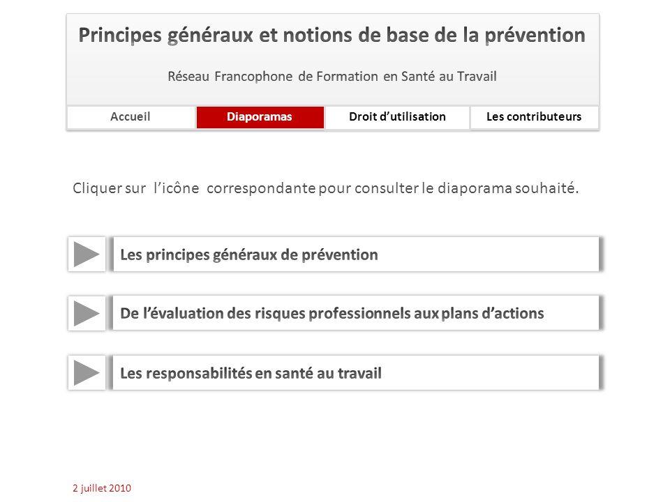 Principes généraux et notions de base de la prévention