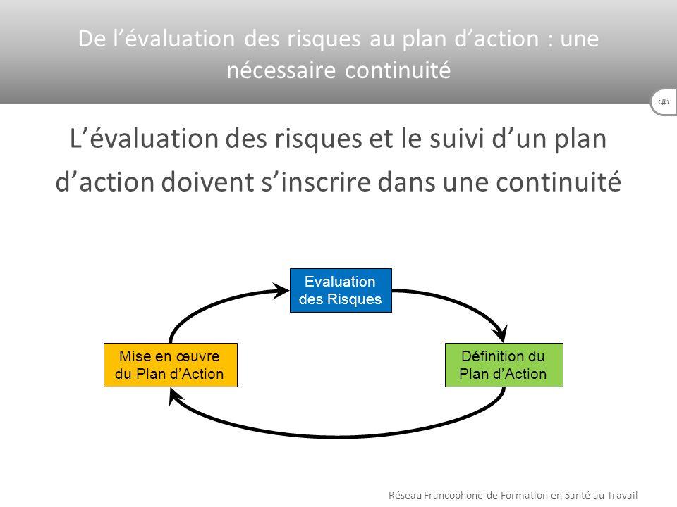 De l'évaluation des risques au plan d'action : une nécessaire continuité