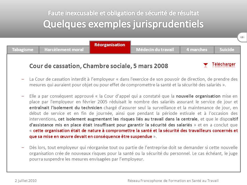 Réseau Francophone de Formation en Santé au Travail