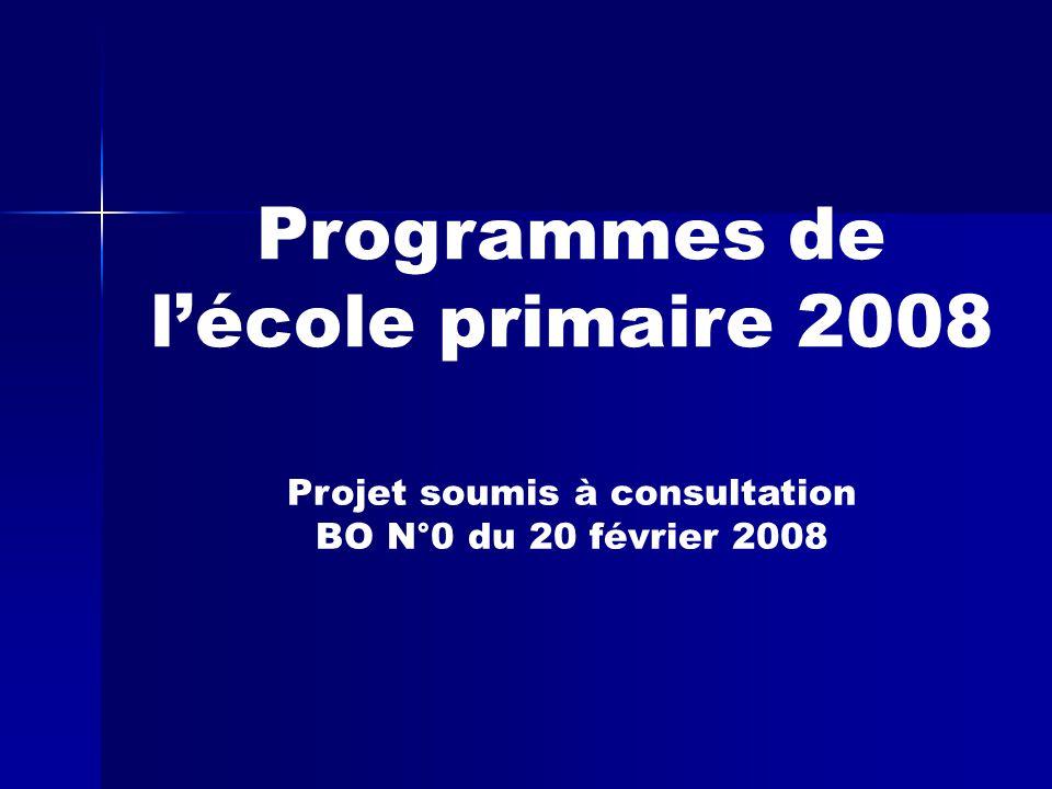 Programmes de l'école primaire 2008