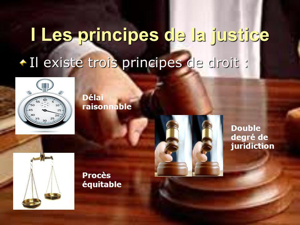 I Les principes de la justice