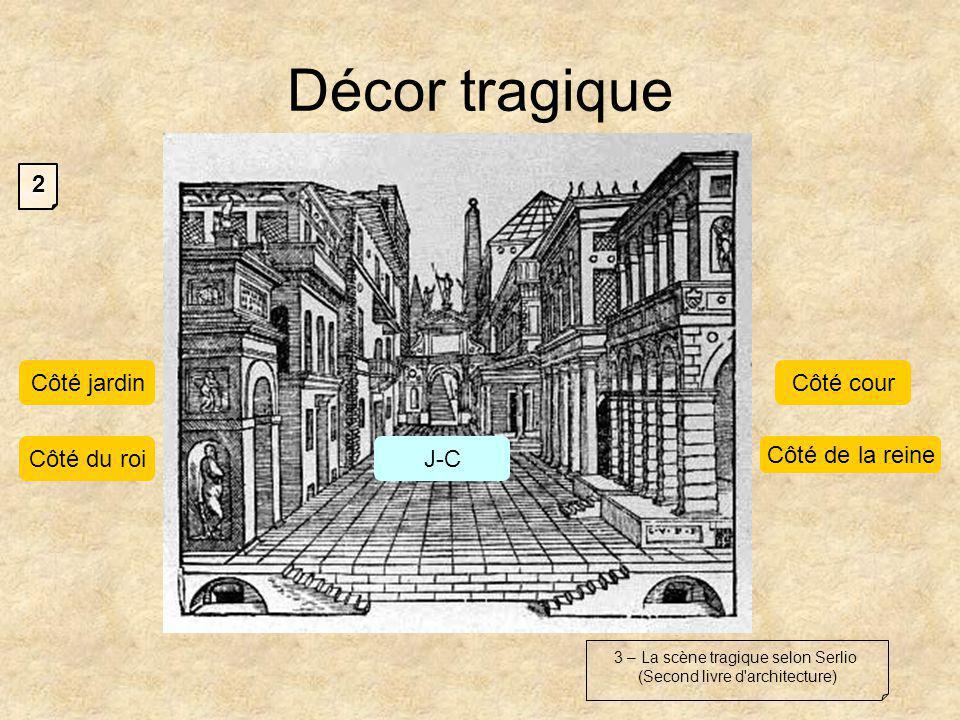 Décor tragique 2 Côté jardin Côté cour Côté de la reine Côté du roi