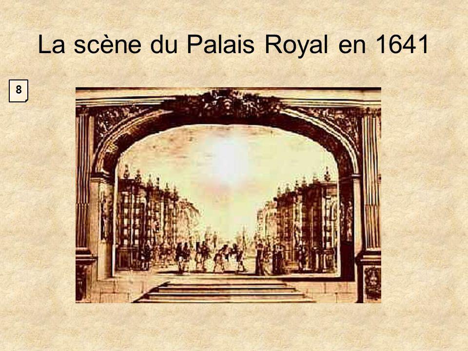La scène du Palais Royal en 1641