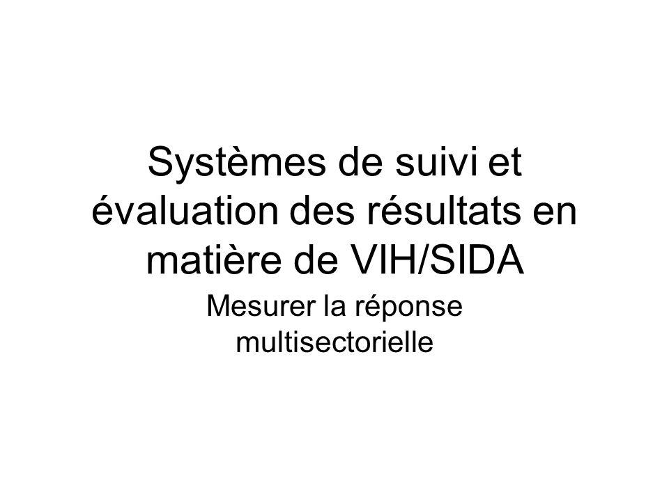 Systèmes de suivi et évaluation des résultats en matière de VIH/SIDA