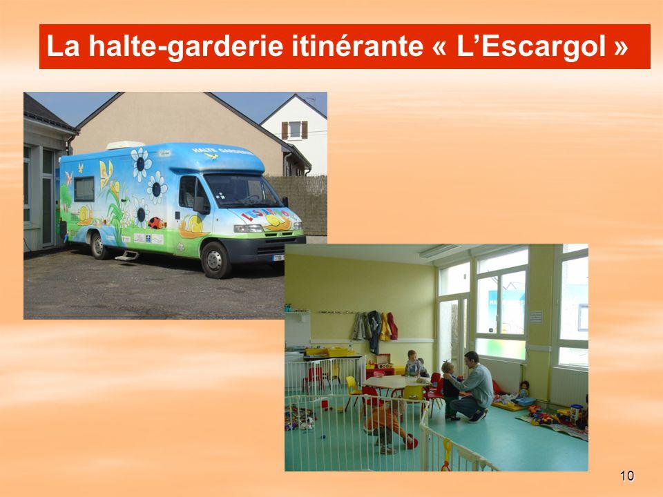 La halte-garderie itinérante « L'Escargol »