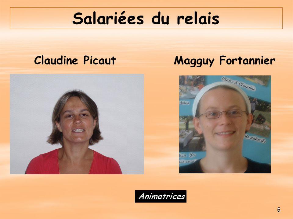 Salariées du relais Claudine Picaut Magguy Fortannier Animatrices