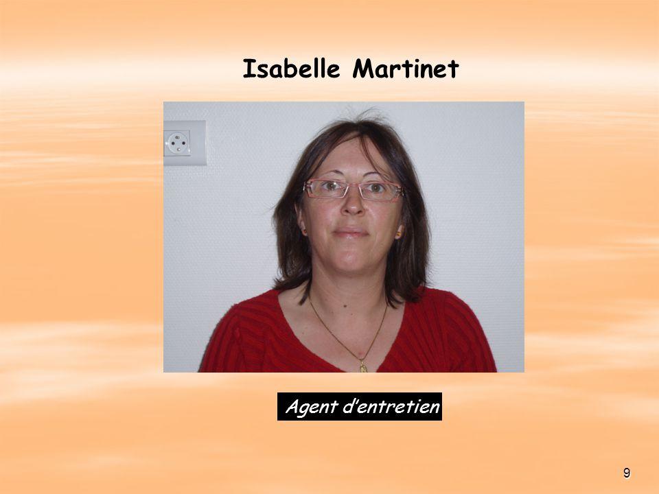 Isabelle Martinet Agent d'entretien