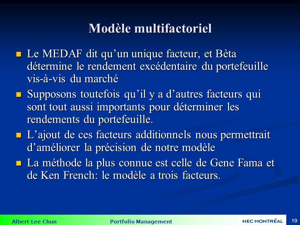 Fama French modèle à 3 facteurs