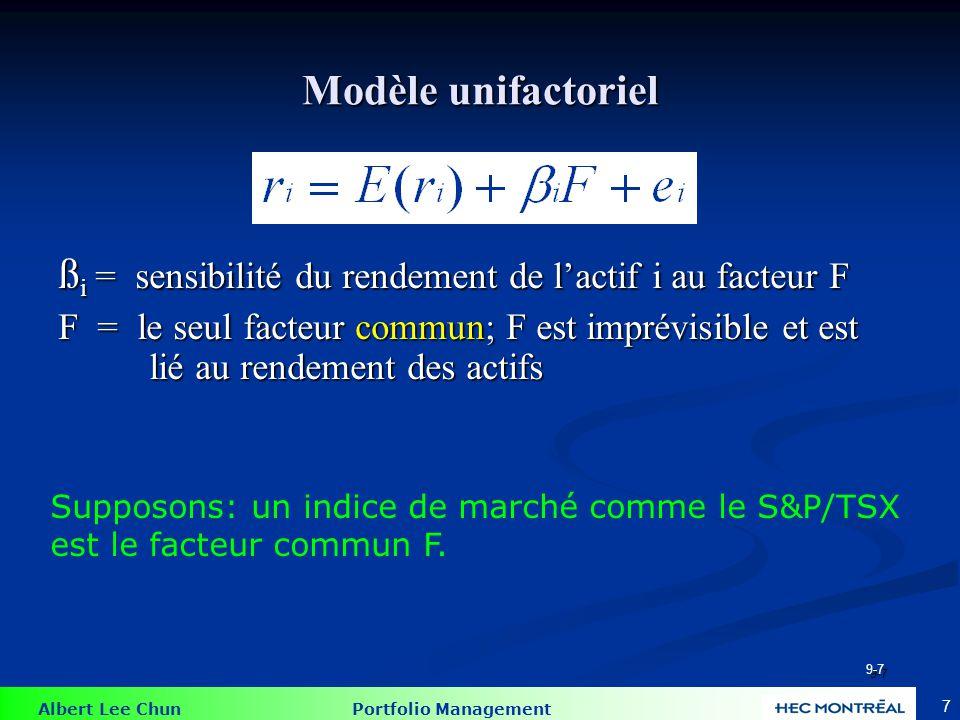 Équation de régression: Modèle à indice unique