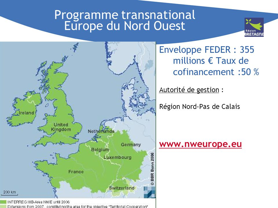 Programme transnational Europe du Nord Ouest