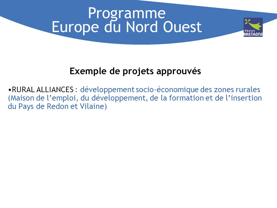 Programme Europe du Nord Ouest