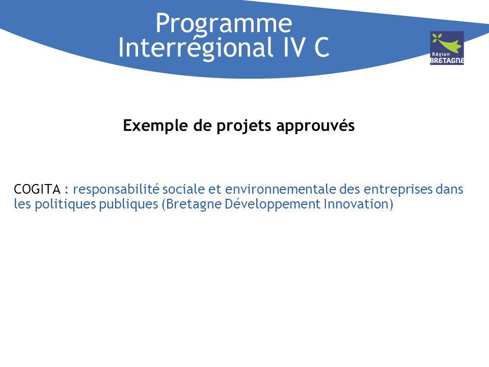 Programme Interrégional IV C