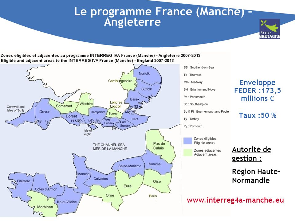 Le programme France (Manche) – Angleterre