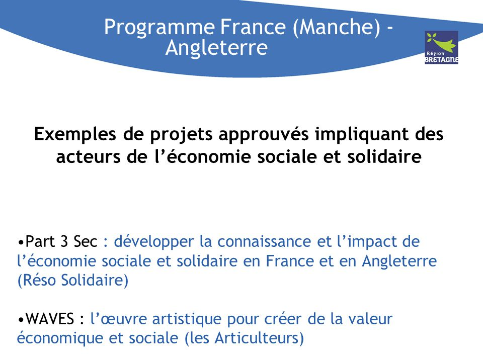 Programme France (Manche) - Angleterre