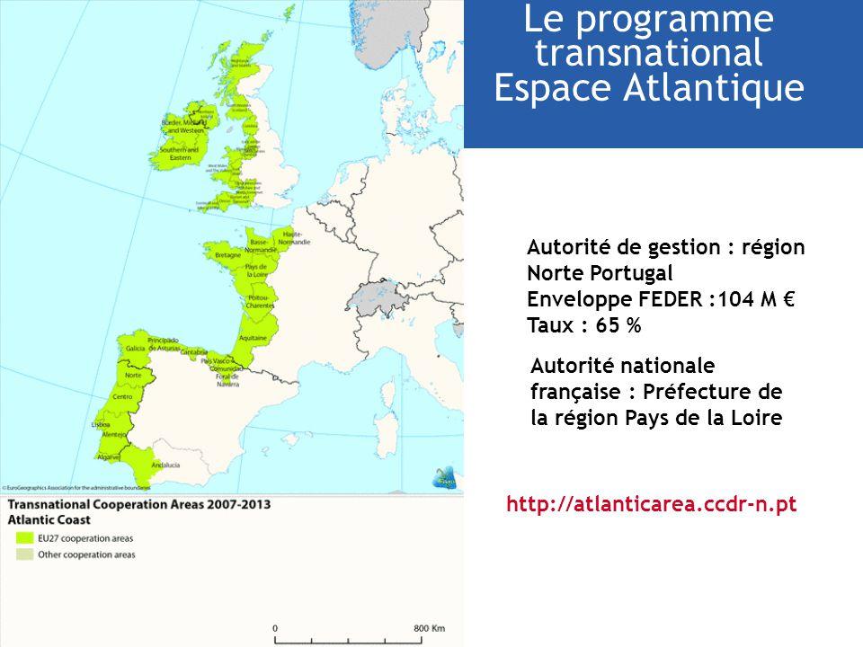 Le programme transnational Espace Atlantique