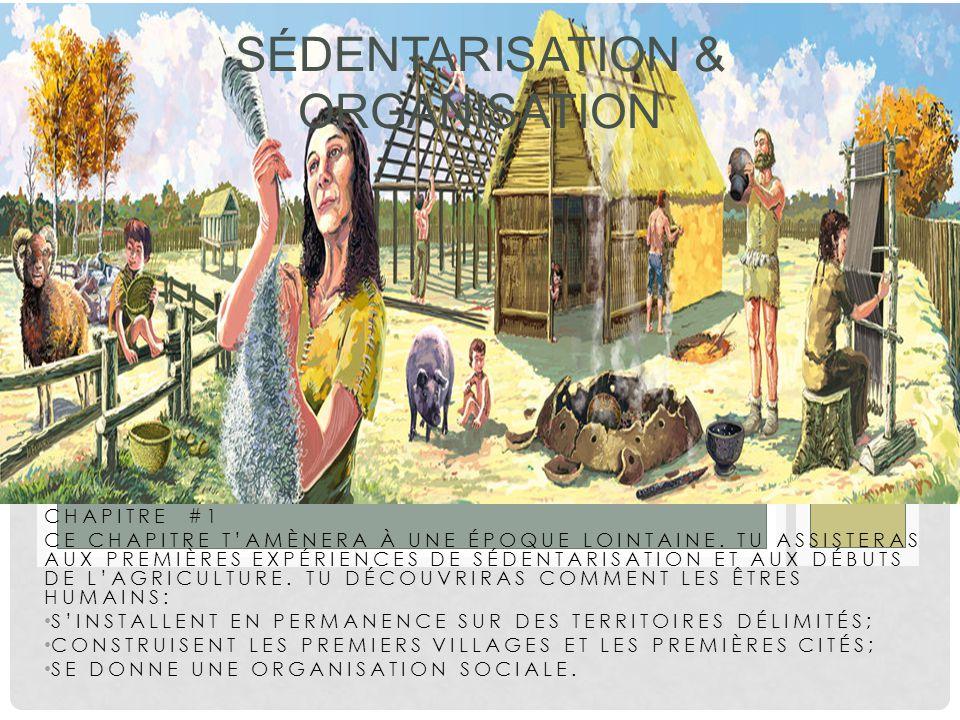 Sédentarisation & Organisation