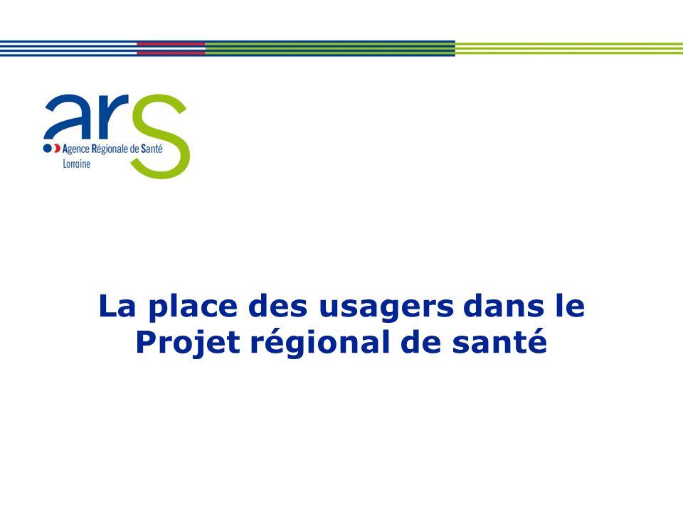 La place des usagers dans le Projet régional de santé
