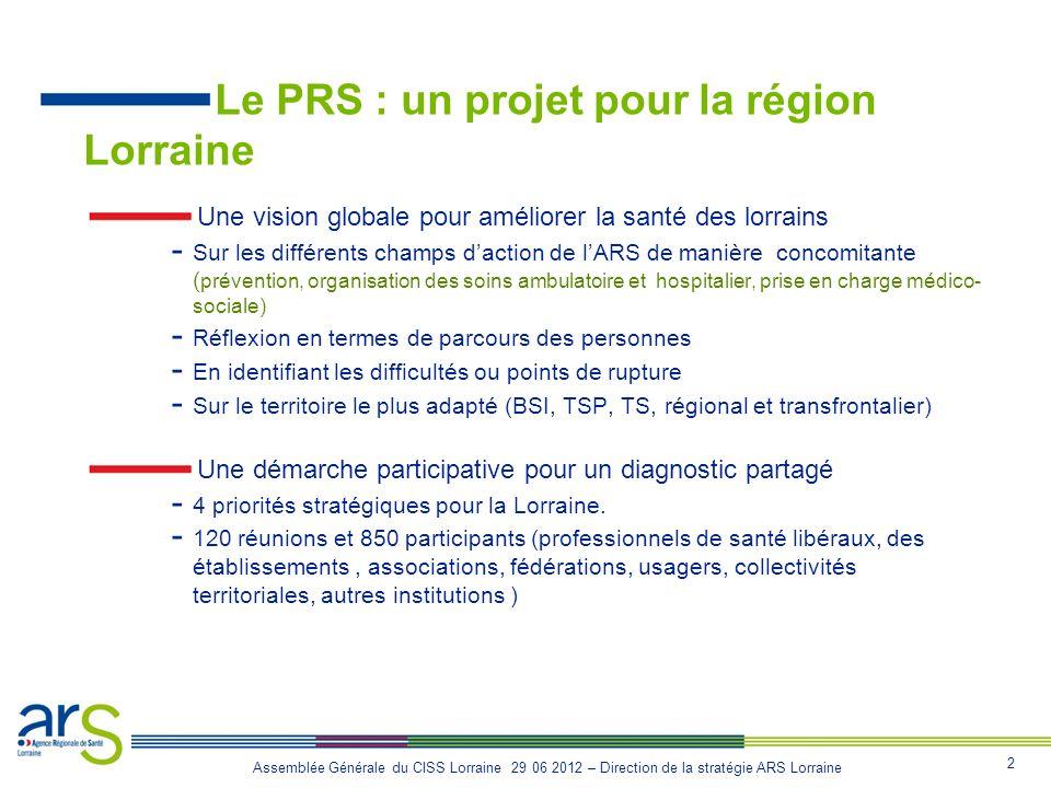 Le PRS : un projet pour la région Lorraine