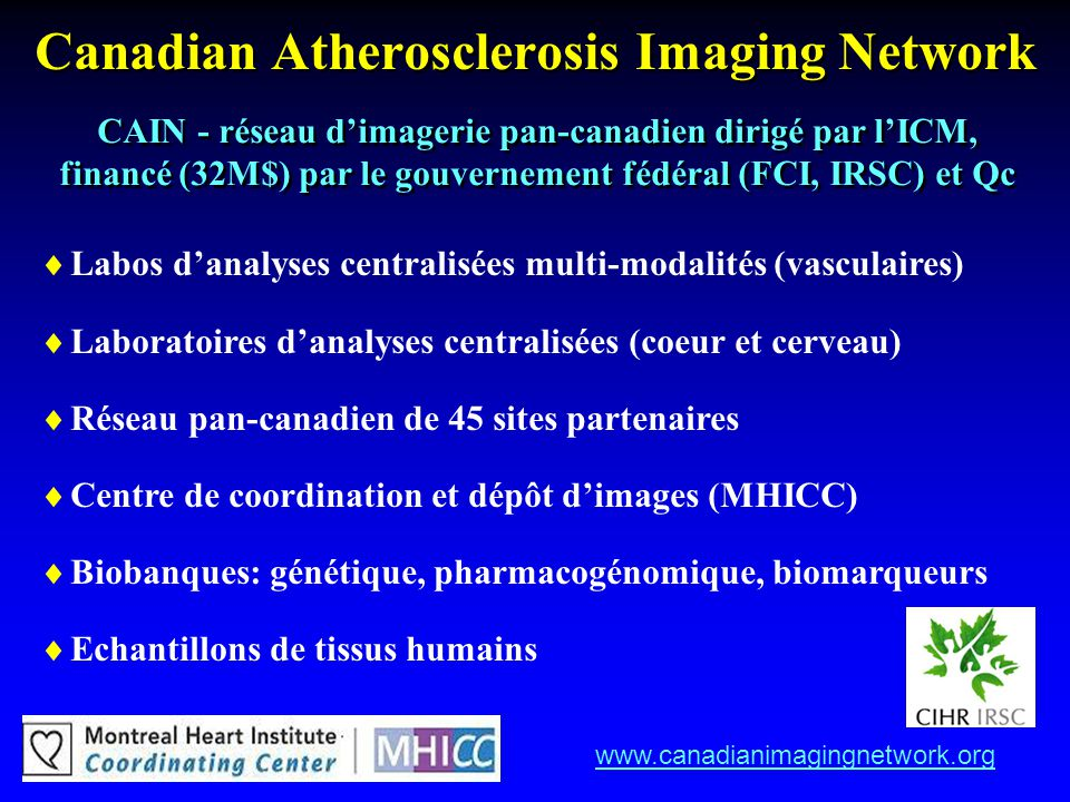 Canadian Atherosclerosis Imaging Network