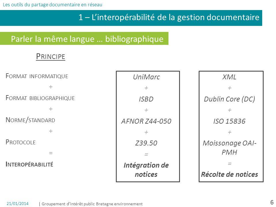1 – L'interopérabilité de la gestion documentaire