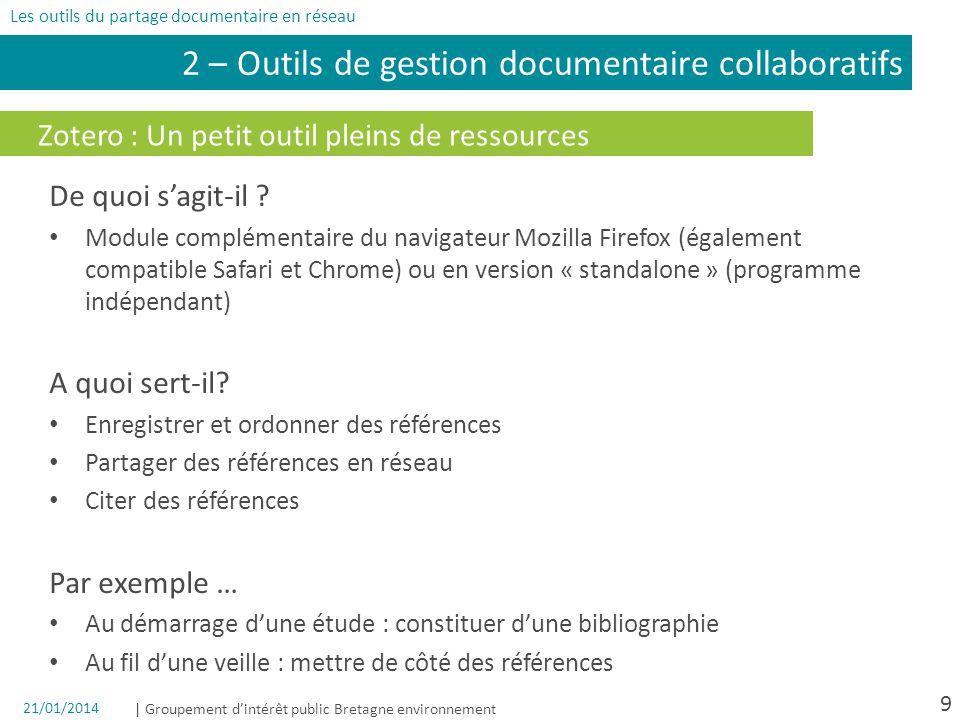 2 – Outils de gestion documentaire collaboratifs