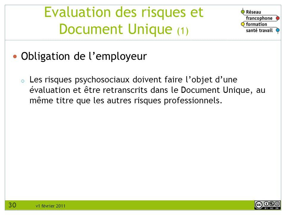 Evaluation des risques et Document Unique (1)