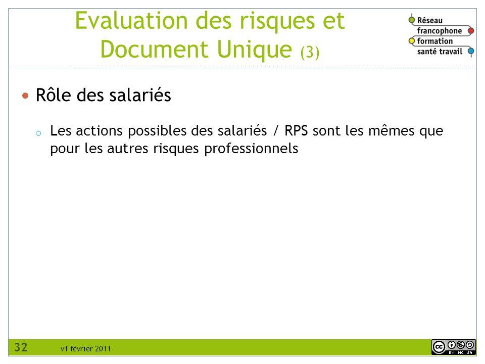 Evaluation des risques et Document Unique (3)