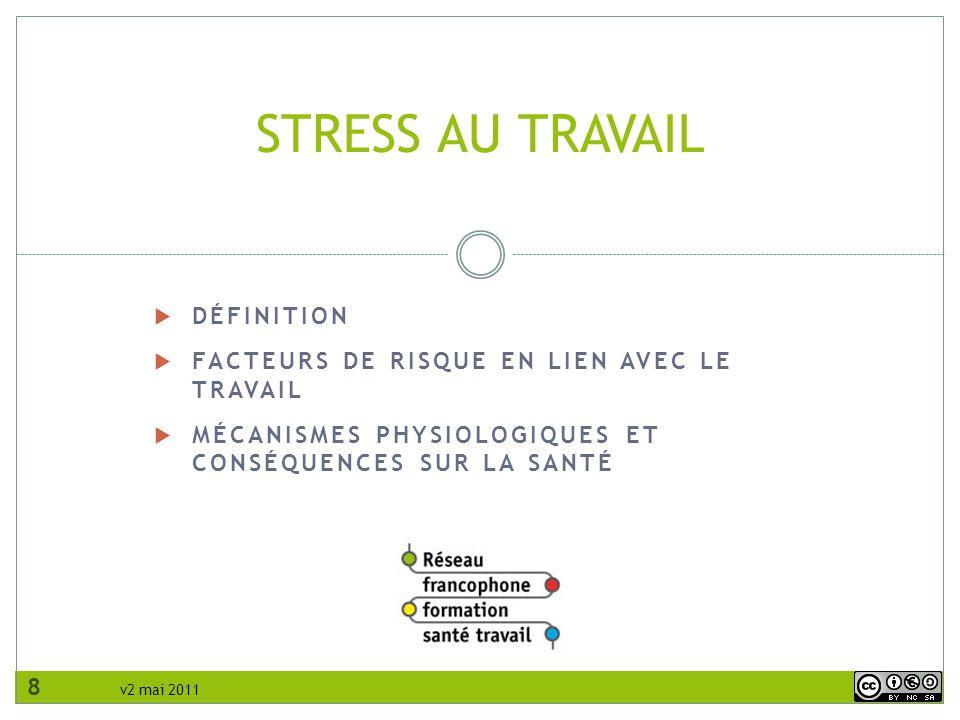 STRESS AU TRAVAIL Définition