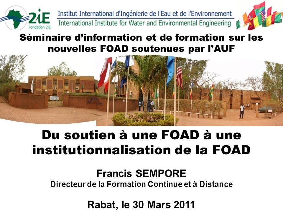 Du soutien à une FOAD à une institutionnalisation de la FOAD