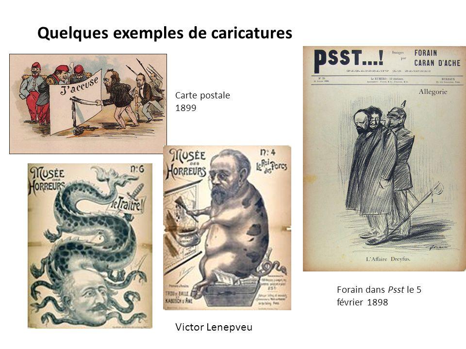 Quelques exemples de caricatures