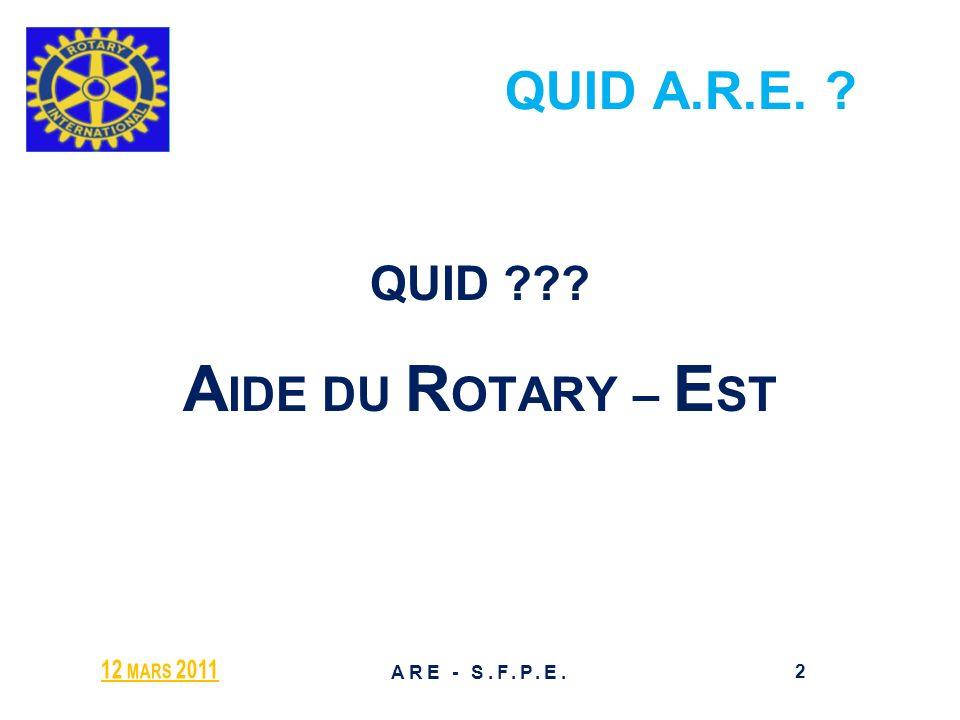 AIDE DU ROTARY – EST QUID A.R.E. QUID 12 mars 2011