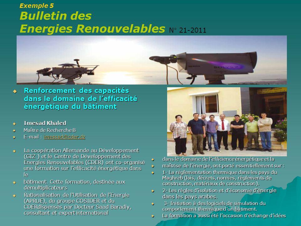 Energies Renouvelables N° 21-2011